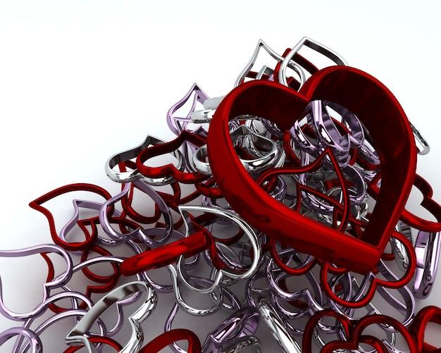 3d geef van heart charms