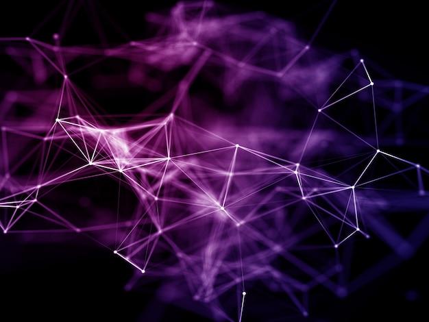 3d geef van moderne netwerkmededelingen met laag polyontwerp terug