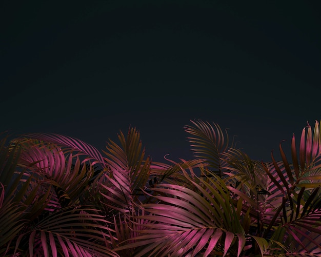 3d gekleurd palmbladeren assortiment