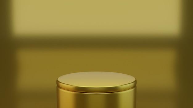 3d geometrisch gouden podium voor product