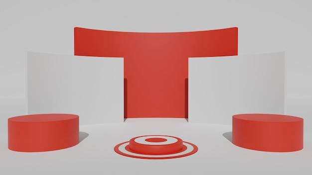 3d geometrisch podium voor productweergave