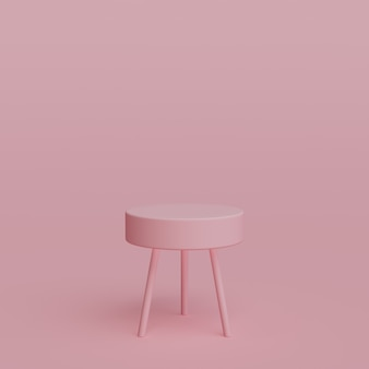 3d-geometrische roze podiumvormen voor uw productplaatsing 3d-gerenderd
