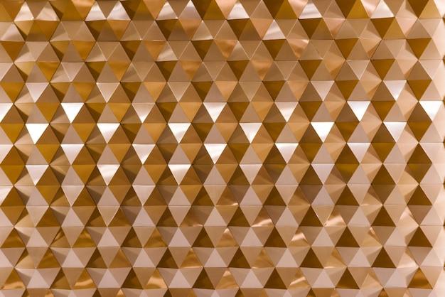 3d geometrische textuur in koper