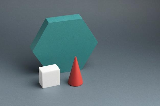 3d-gerenderde abstracte ontwerpelementen assortiment