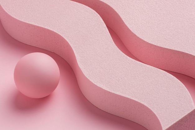 3d-gerenderde abstracte ontwerpelementen compositie