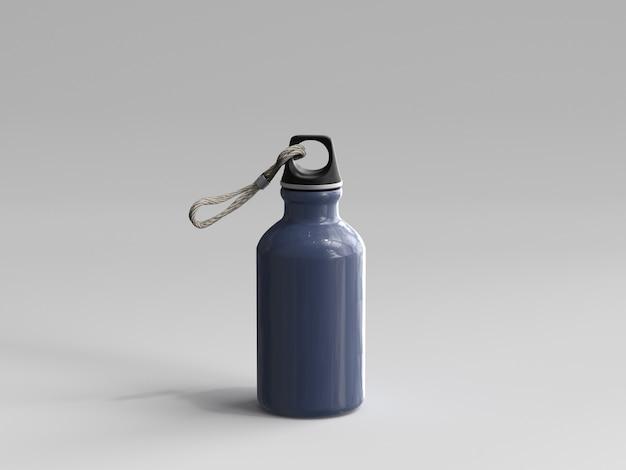 3d-gerenderde aluminium waterfles
