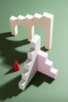 3d-gerenderde indeling van ontwerpelementen