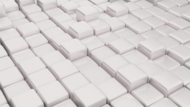 3d-gerenderde kubussen op verschillende hoogtes
