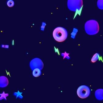 3d-gerenderde paarse abstracte geometrische vormen achtergrond dans nachtclub stijl