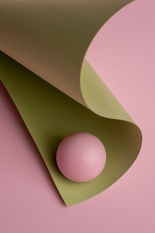 3d-gerenderde samenstelling van ontwerpelementen