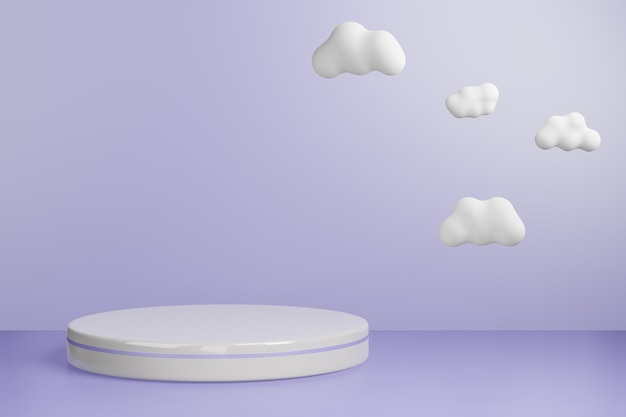 3d-gerenderde studio mock-up achtergrond voor productpresentatie