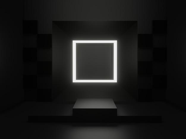 3d-gerenderde zwarte wetenschappelijke fase.