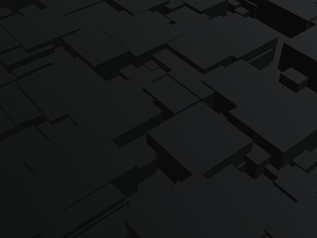 3d gesmolten abstracte zwarte achtergrond.