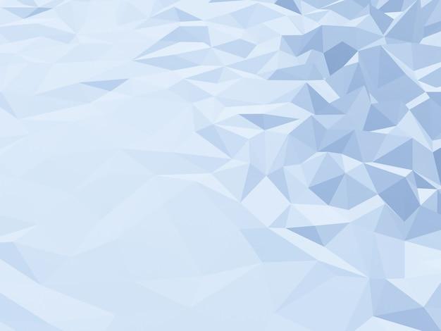 3d gesmolten laag poly ijsberg