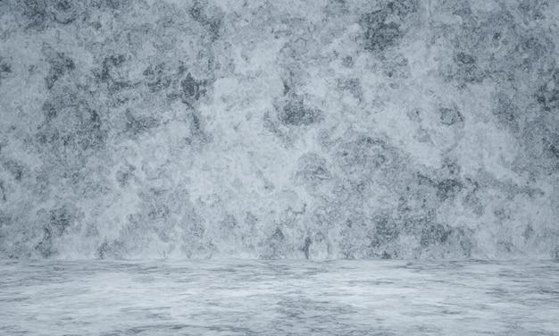 3d gesmolten zwart-wit verweerde cement muur achtergrond