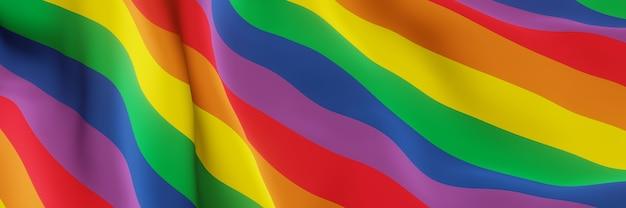 3d golvende regenboogvlag lgbtq kleur