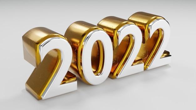 3d goud 2022 met witte achtergrond