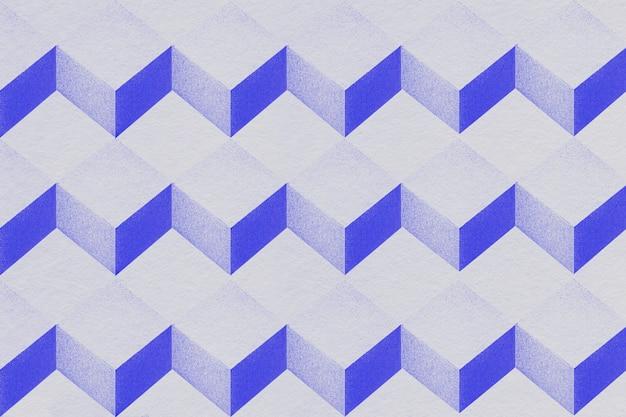 3d grijze en indigo papier ambachtelijke kubieke patroon achtergrond