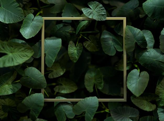 3d groene palmbladeren arrangement