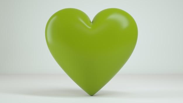 3d-hart witte achtergrond render