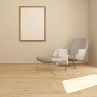 3d-hedendaagse woonkamer interieur en moderne meubels