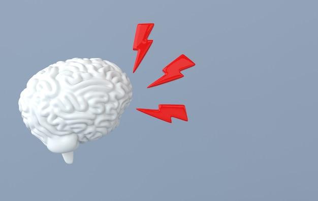 3d-hersenweergave illustratie sjabloon achtergrond