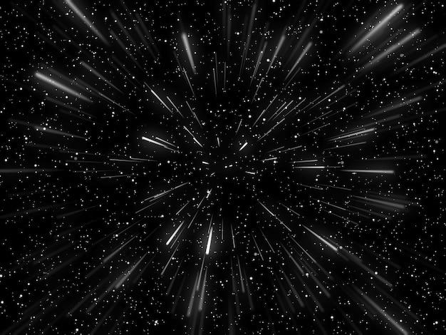 3d hyperspace achtergrond met warp tunnel effect