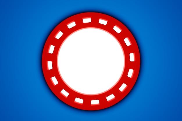 3d-illustaration van een rood cyberportaal met een witte lichtgevende bal erin.