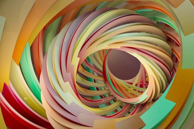 3d illustratie. abstracte 3d-weergave van gedraaide lijnen. modern achtergrondontwerp