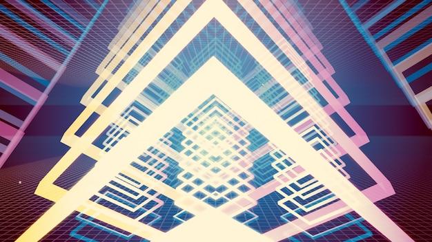 3d illustratie achtergrond voor reclame en behang in gatsby en art deco scene.