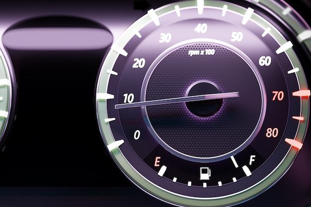 3d illustratie close-up zwarte autopaneel onder witte kleur