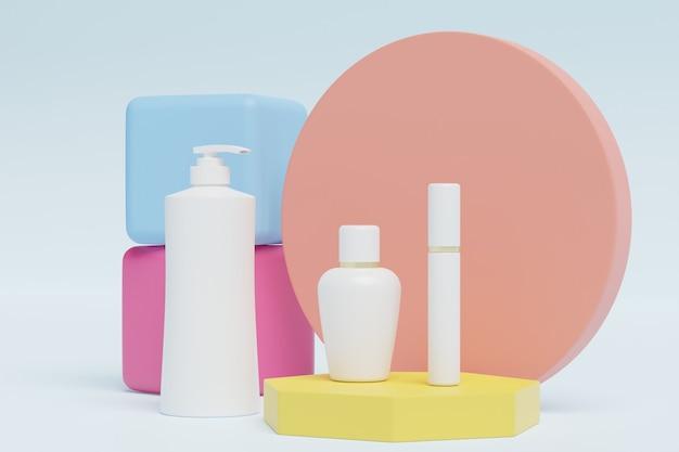 3d-illustratie-cosmetica met mooie achtergrond