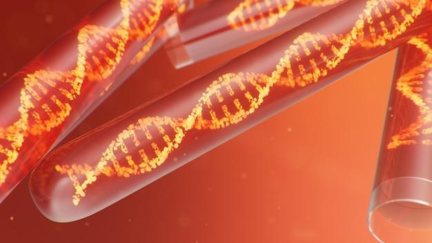 3d illustratie dna-molecuul, de structuur. concept menselijk genoom