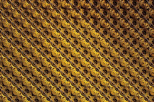 3d illustratie gouden ruit patroon. reeks vierkanten op monochrome achtergrond, patroon. geometrie achtergrond, patroon
