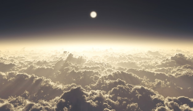 3d illustratie hoge wolken