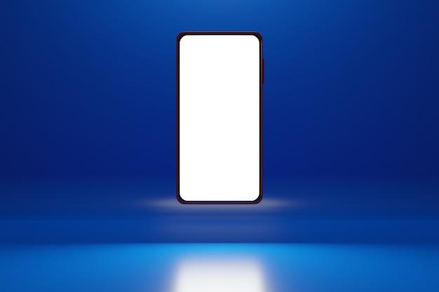 3d illustratie moderne smartphone met wit scherm