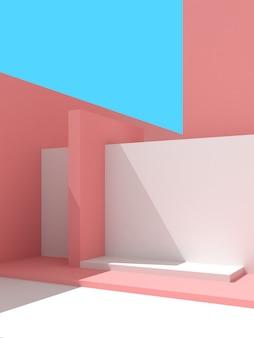 3d illustratie van abstracte architectuurachtergrond.