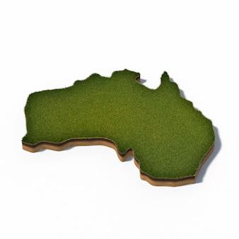3d illustratie van de kaart van australië