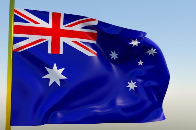 3d illustratie van de nationale vlag van australië