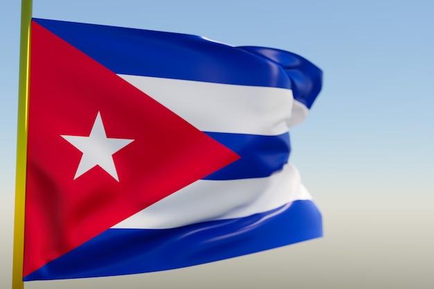 3d illustratie van de nationale vlag van cuba