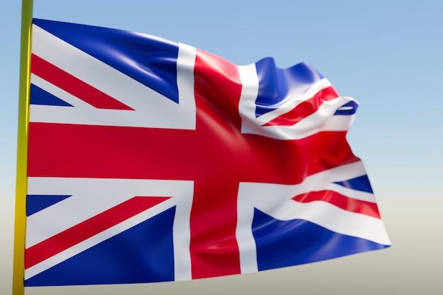 3d illustratie van de nationale vlag van het verenigd koninkrijk