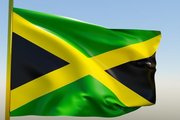 3d illustratie van de nationale vlag van jamaica