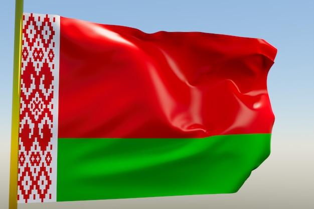 3d illustratie van de nationale vlag van wit-rusland