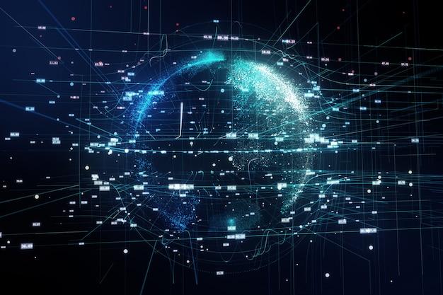 3d illustratie van de planeet aarde in de ruimte