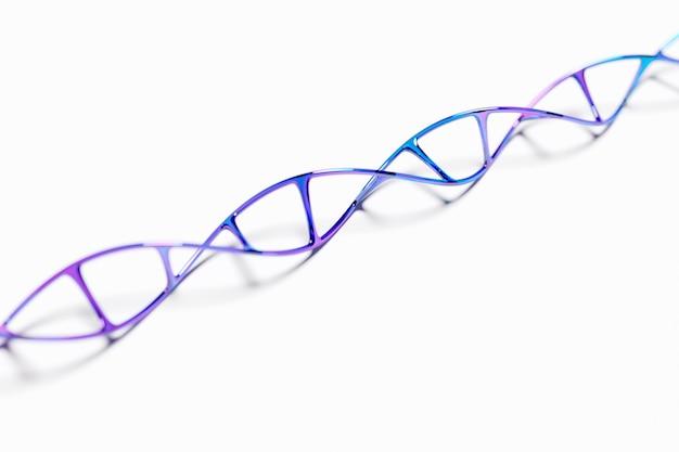 3d illustratie van een; abstracte 3d veelhoekige draadframe dna-molecule. medische wetenschap; genetische biotechnologie; scheikunde biologie; gencel concept