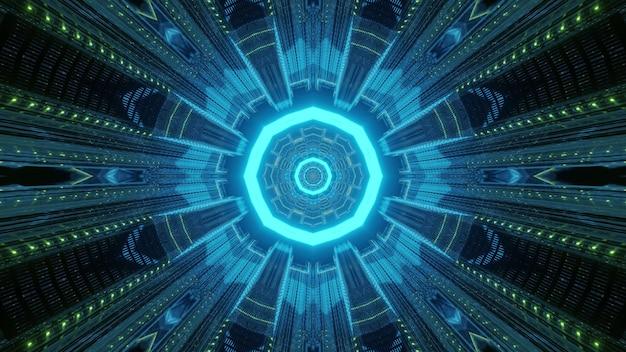 3d illustratie van neon patroon