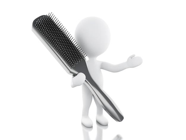 3d-kapper met haarborstel.