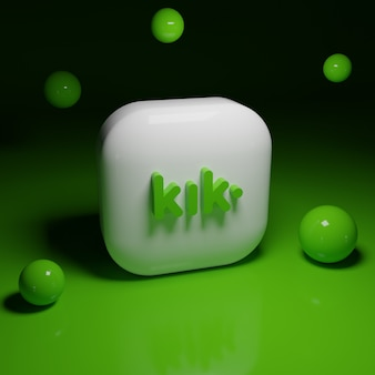 3d kik logo-applicatie