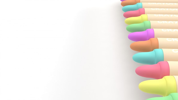 3d kleurpotloden geven terug