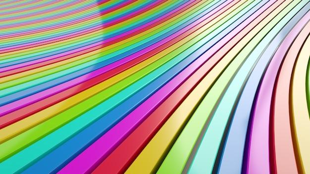 3d kleurrijke abstracte vormachtergrond